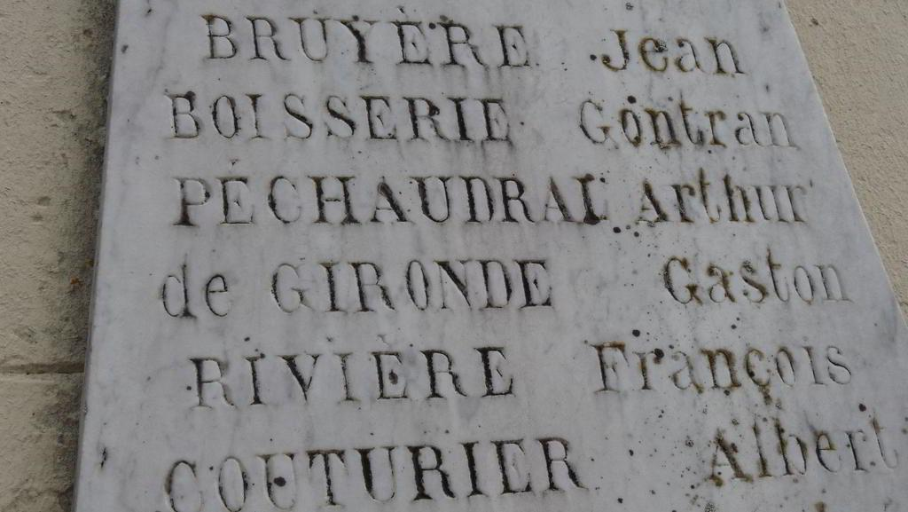 Plaque commémorative - Ferrensac