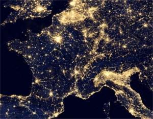 Photo satellite de nuit de la France